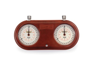 Laptimer 2000 >> Heuer & Champion. An Rare Aluminum and Rubber Lap Timer with Indianapolis Motor Speedway Logo ...