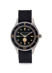 Tornek-Rayville. An Extremely Rare Automatic Stainless Steel Anti-Magnetic Diver's Wristwatch, Made for the US Navy
