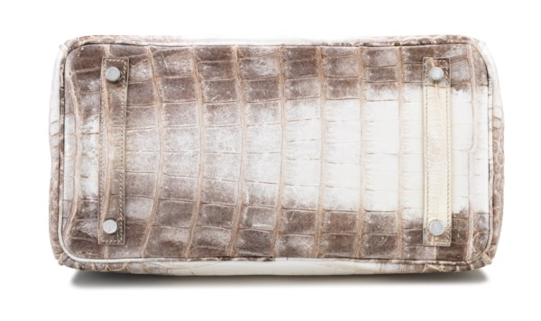 A RARE, MATTE WHITE HIMALAYA NILOTICUS CROCODILE BIRKIN 30 WITH PALLADIUM HARDWARE