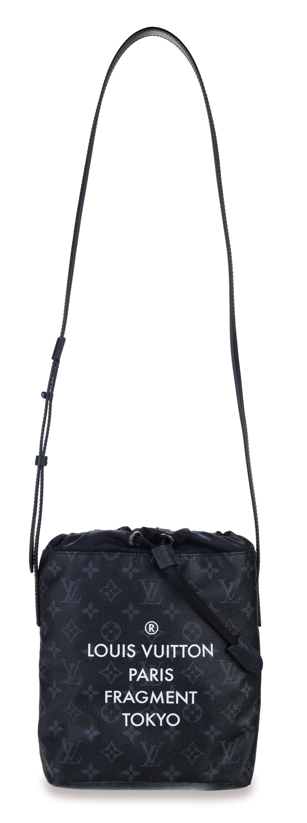 A LIMITED EDITION BLACK MONOGRAM ECLIPSE FLASH CANVAS AND NYLON NANO BAG WITH IRIDESCENT HARDWARE