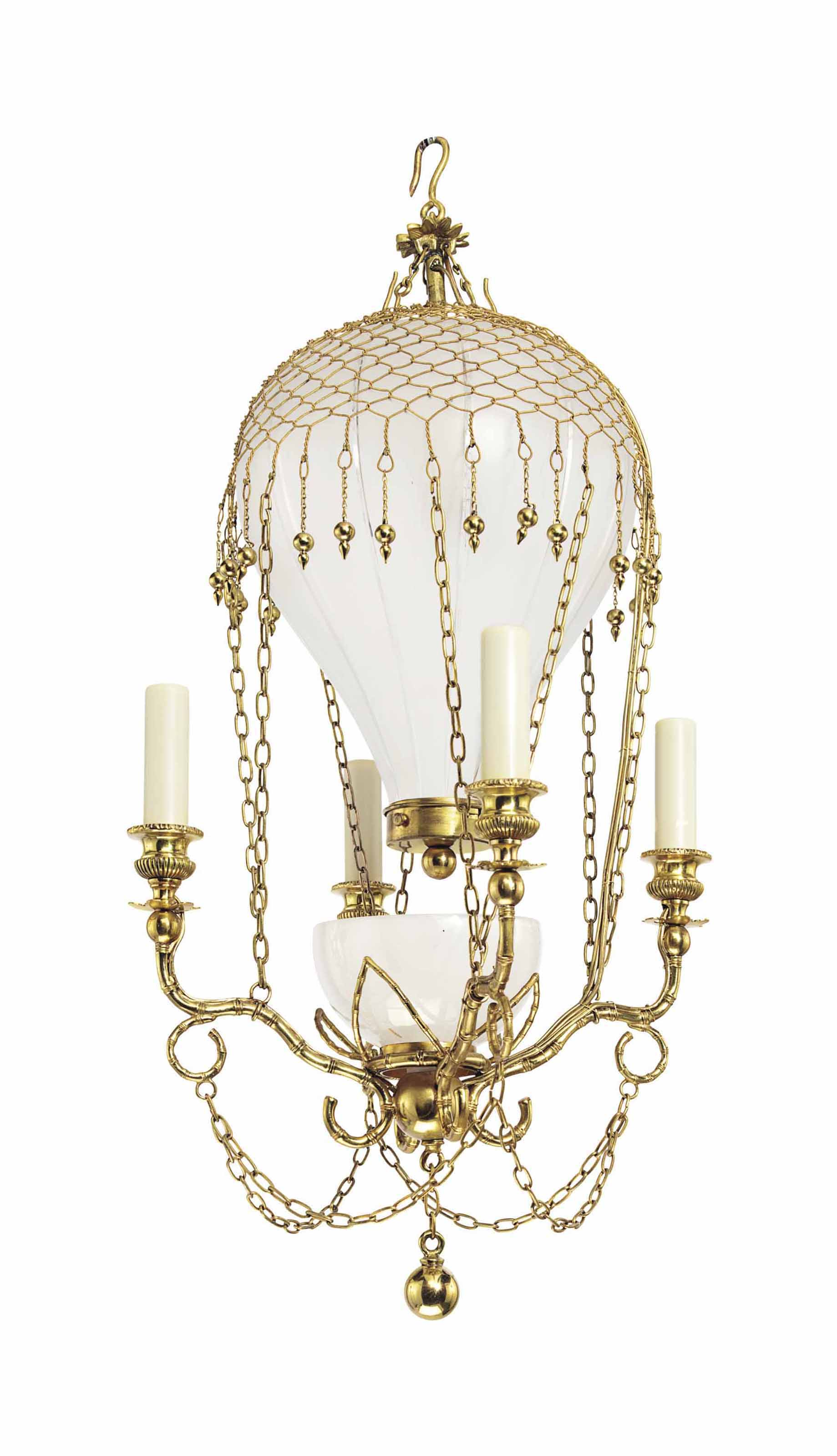 A small ormolu and frosted glass five light montgolfier chandelier lot 346 aloadofball Choice Image