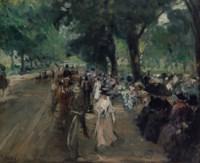 Etude pour le 'Dimanche au Bois de Boulogne'