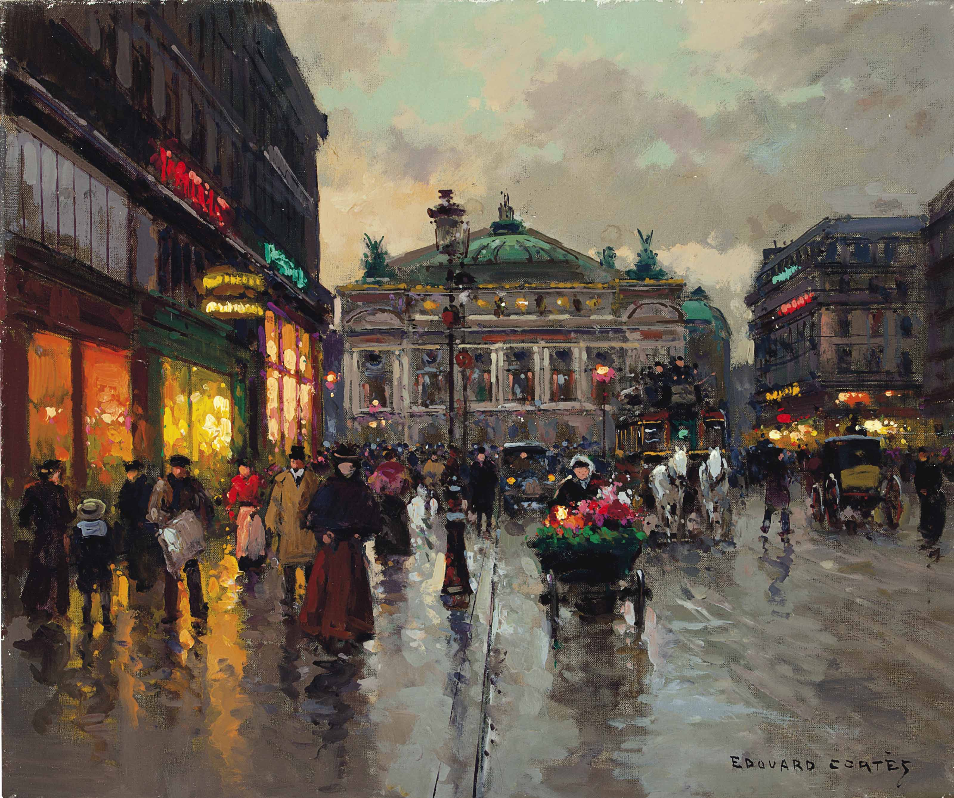 Avenue de l'Opera après la pluie