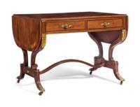 A REGENCY ORMOLU-MOUNTED MAHOGANY SOFA TABLE