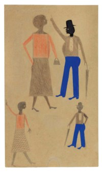 Two Women in Orange, Two Men in Blue, 1939-1942