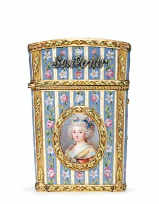 A LOUIS XVI-STYLE JEWELLED ENA
