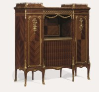 A FRENCH ORMOLU-MOUNTED KINGWOOD SIDE CABINET