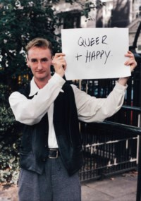 Signs that say what you want them to say and not Signs that say what someone else wants you to say (Queer and Happy), 1992–1993