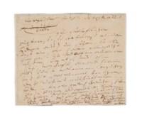 BEETHOVEN, Ludwig van (1770-1827). Autograph letter signed ('Beethoven') to [Count Nikolaus Zmeskall von Domanovecz: 'H[err] von Seneskall!') , n.p. [Vienna], n.d. [?December 1816].