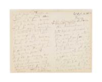 TCHAIKOVSKY, Pyotr Ilyich (1840-1893). Autograph letter signed ('P. Tschaïkowsky') to [Friedrich Sieger: 'Cher Monsieur et ami'), Moscow, 30 September/19 October [18]89.
