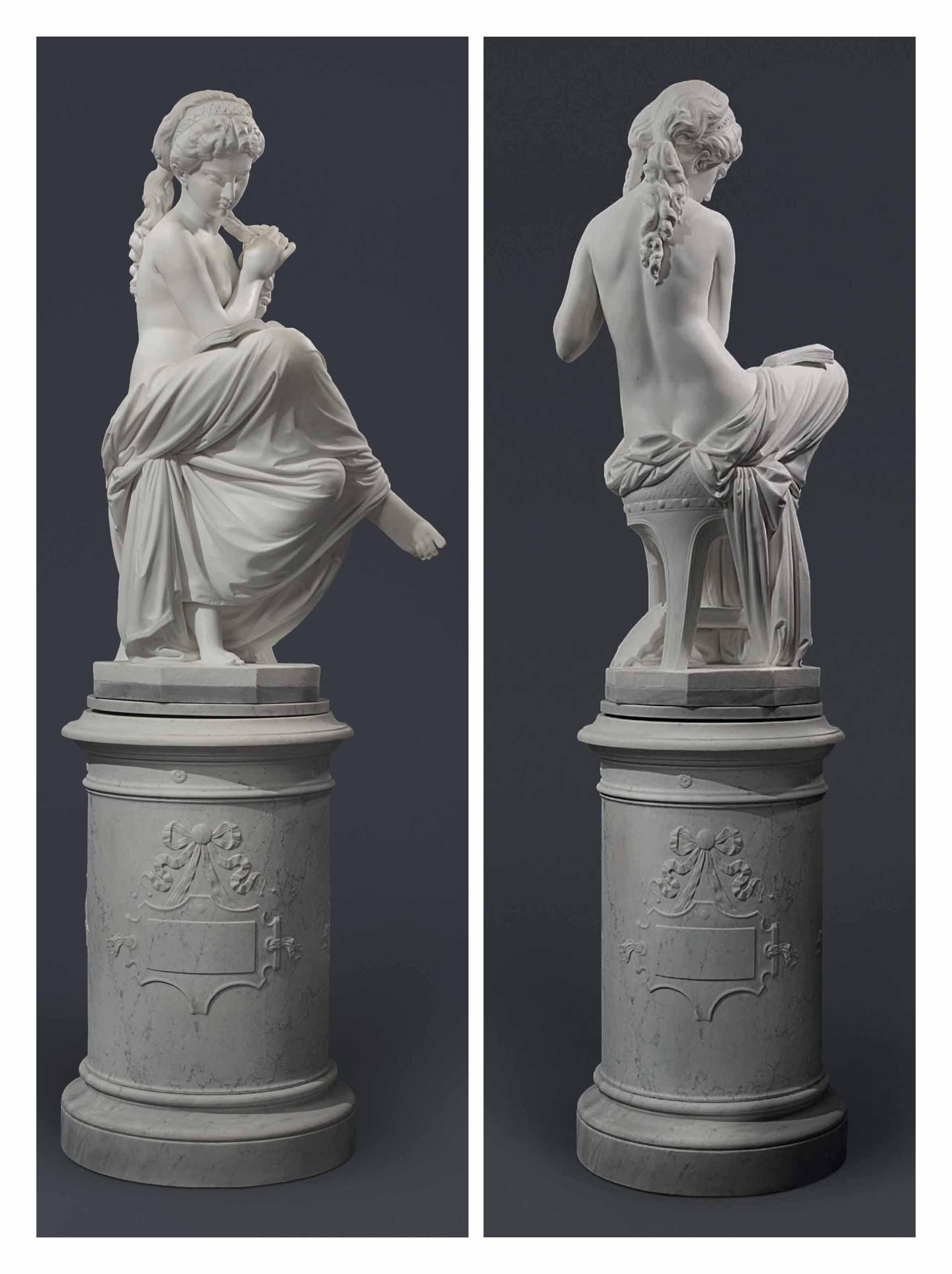the italian lotfinder lot girl antonio sculpture b for sculptures pedestal reading rossetti details nyr
