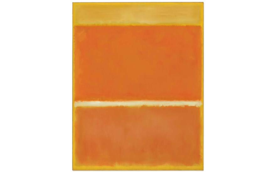 Mark Rothko (1903-1970), Saffron, painted in 1957. 69½ x 53¾  in (175.6 x 136.5  cm). Estimate $25-35 million. This lot is offered in the Post-War & Contemporary Art Evening Sale on
