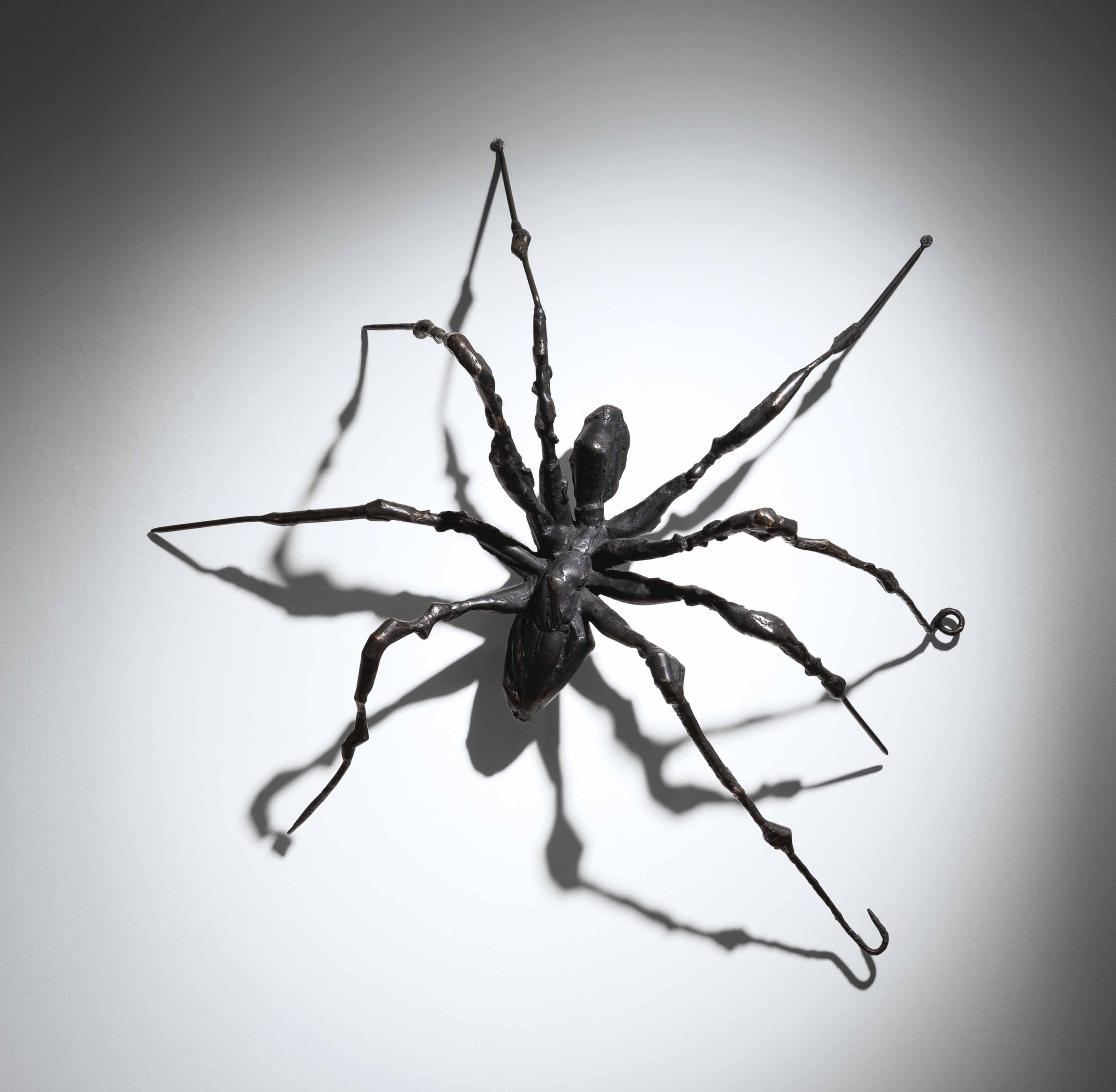 Louise Bourgeois (1911-2010), Spider II, 1995. Bronze. 73 x 73 x 22½  in (185.4 x 185.4 x 57.2  cm). Sold for $11,562,500 on 15 November 2017 at Christie's in New York. Artwork © The Easton FoundationVAGA at ARS, NY and DACS, London 2021