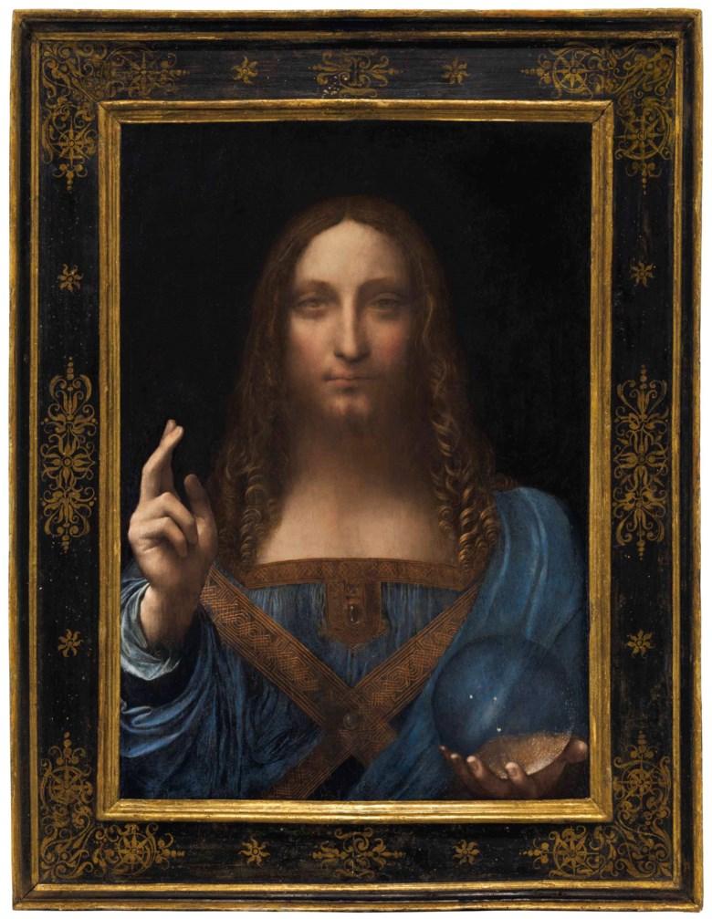 Leonardo da Vinci (1452-1519), Salvator Mundi, circa 1500. Oil on panel. 25⅞ x 18 in (65.7 x 45.7 cm). Sold for $450,312,500 on 15 November 2017 at Christies in New York