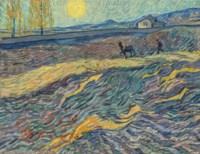 Laboureur dans un champ
