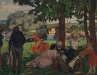 Dans le parc, bord de la Seine