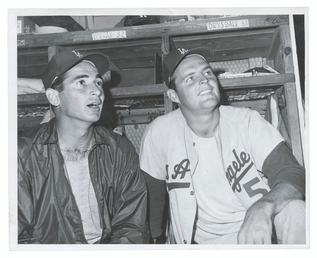 SANDY KOUFAX AND DON DRYSDALE PHOTOGRAPHS
