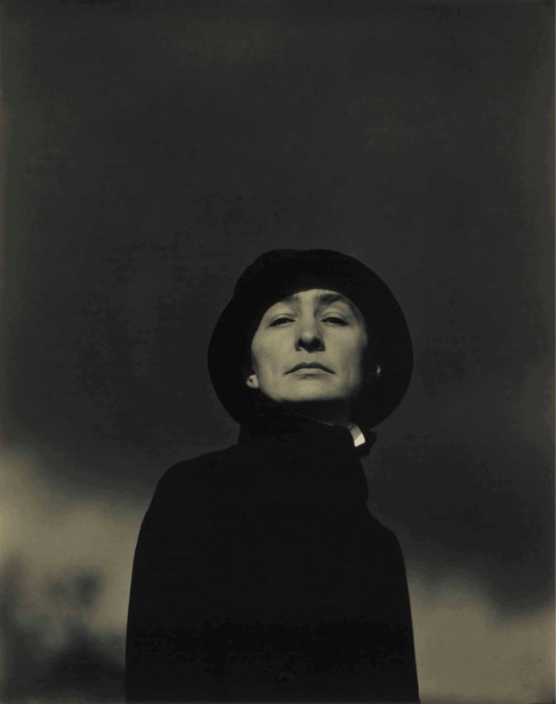 Alfred Stieglitz (1864-1946), Portrait of Georgia, No.1, 1923. Gelatin silver contact print, flush-mounted on card, mounted on larger card. Imagesheetflush mount 4⅝ x 3⅝ (11.8 x 9.2 cm). Secondary mount 13⅜ x 10¼ in (34 x 26 cm). Sold for $60,000 on 6 April 2017 at Christie's in New York