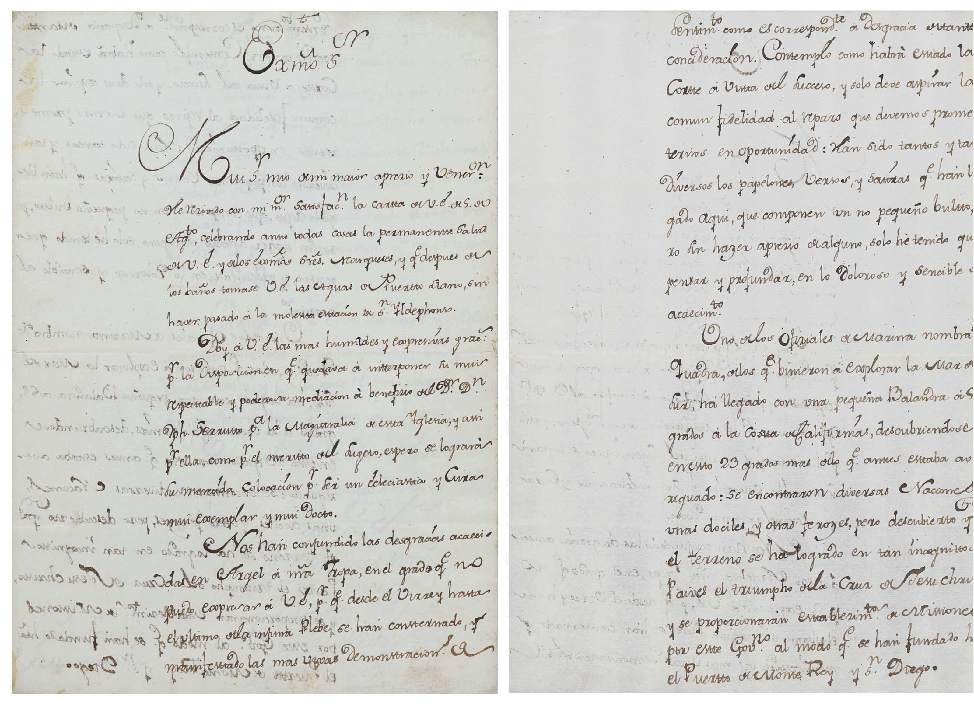 BODEGA Y QUADRA – GAMBOA, Francisco Xavier de (1717-1794). Autograph letter...