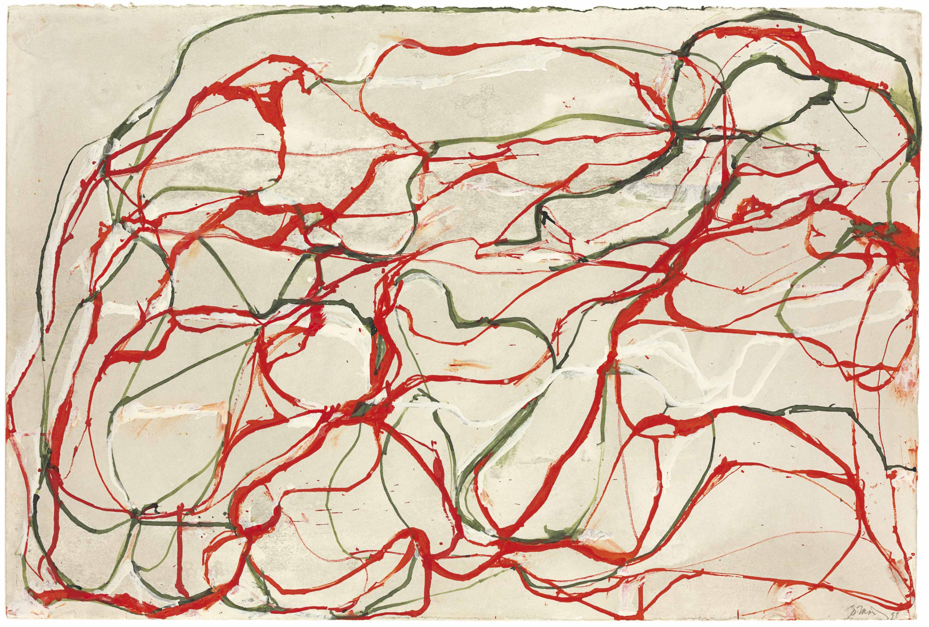 Untitled Red and Green Drawing 2