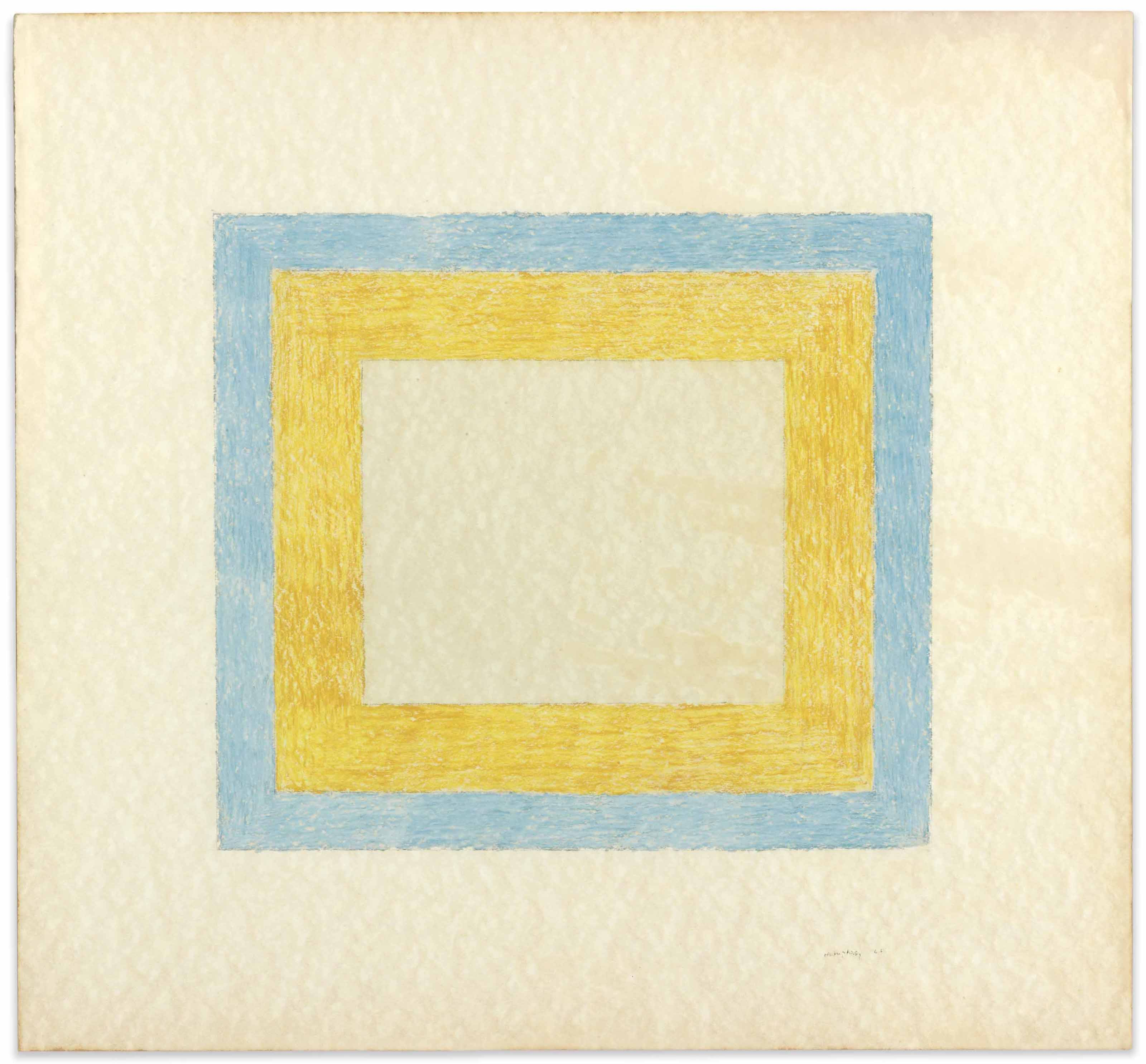 Untitled (Orange and Blue Square)