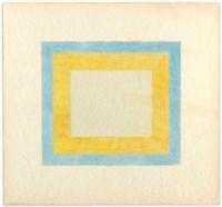 Untitled (Orange and Blue Square)