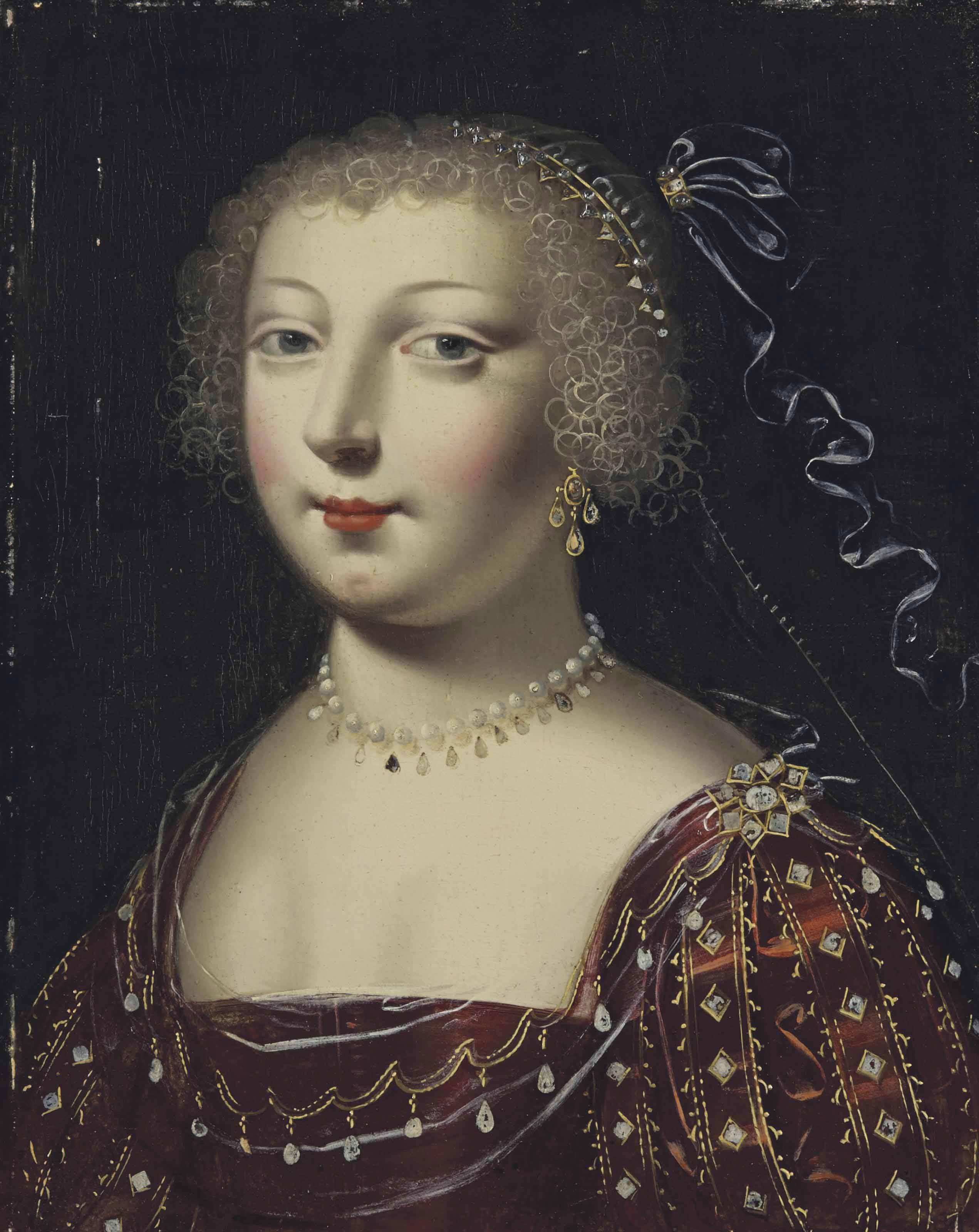 Portrait de femme à la robe pourpre