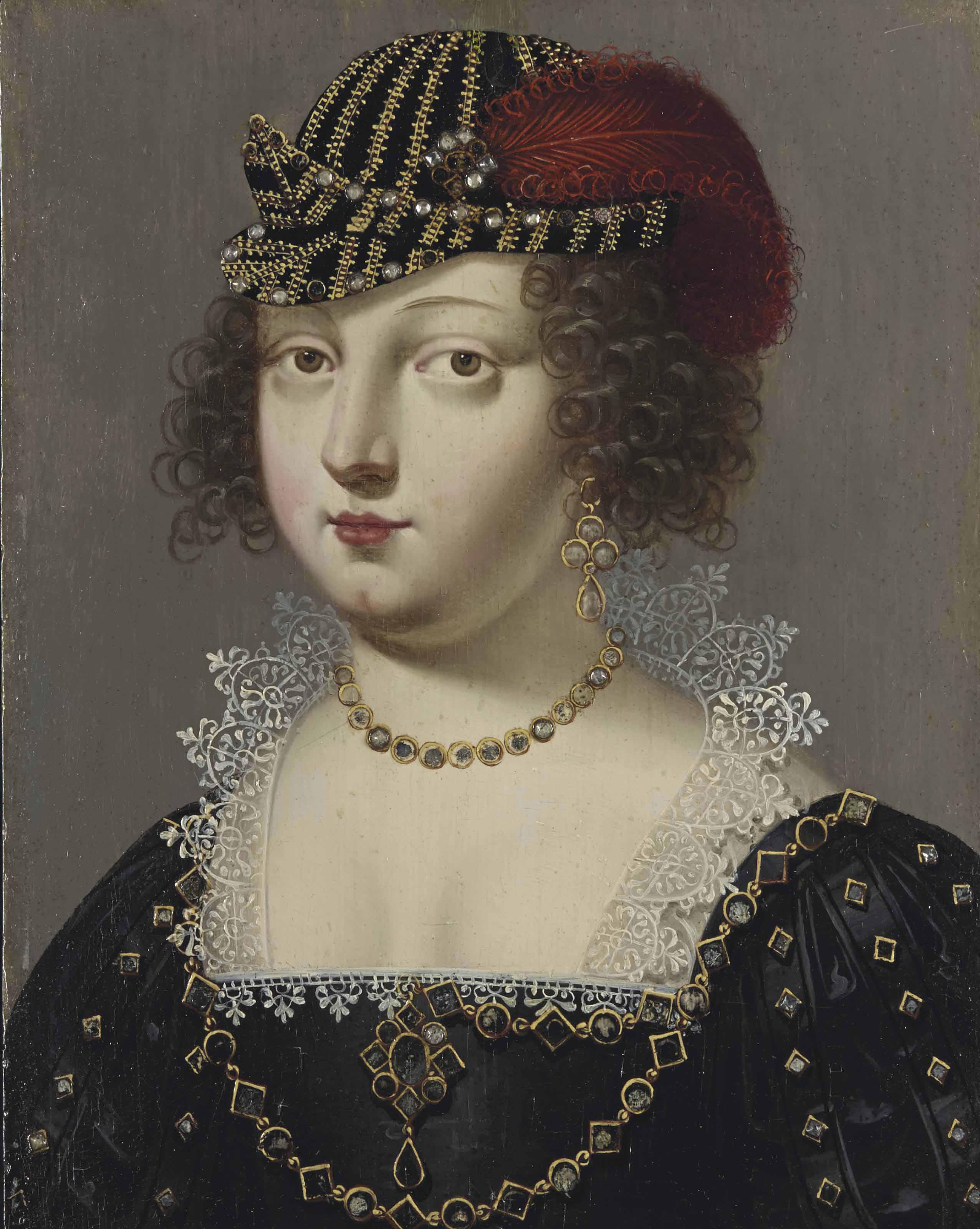Portrait de femme à la robe noire