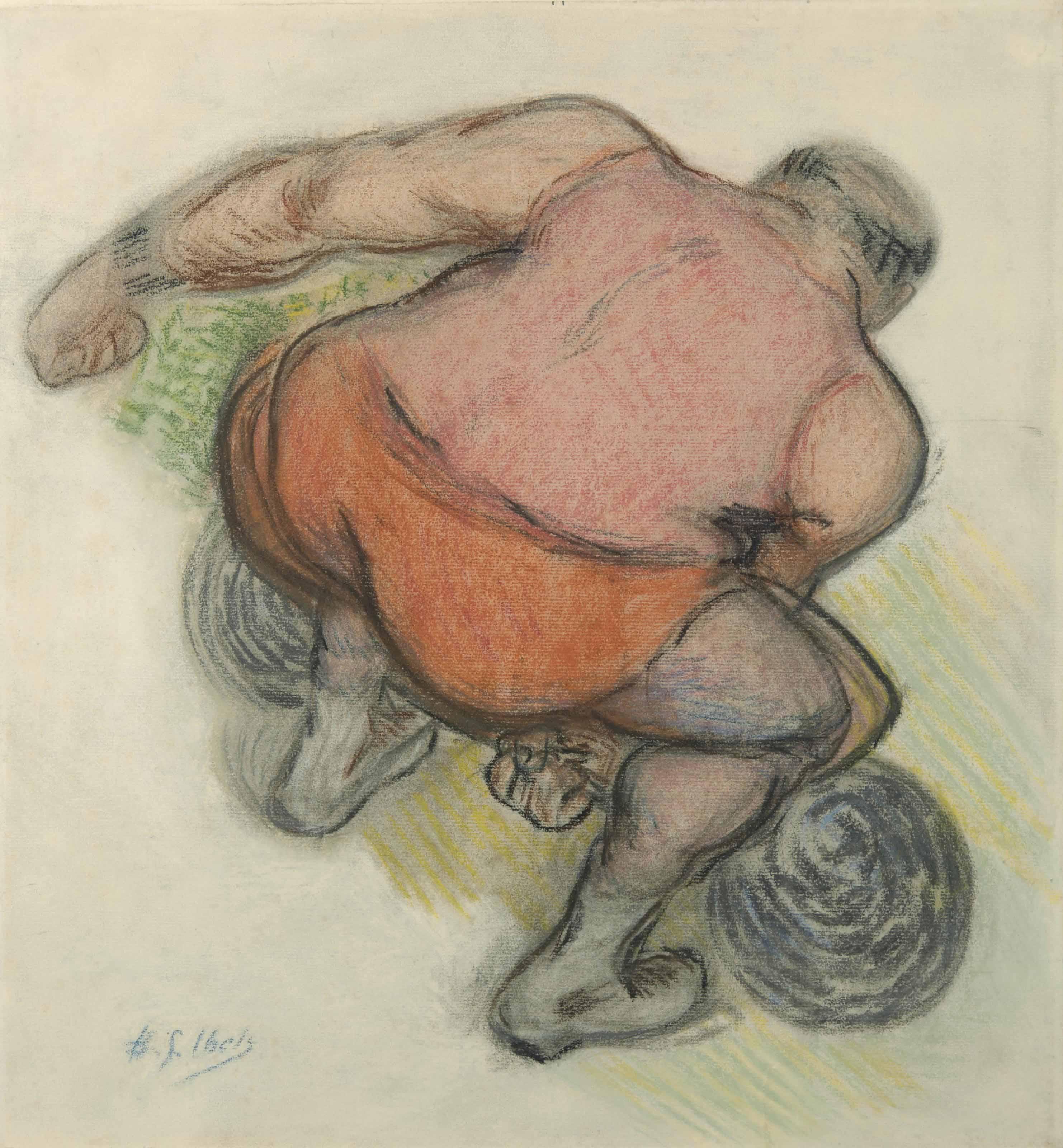 """Étude pour """"Le cirque, avant la représentation"""""""