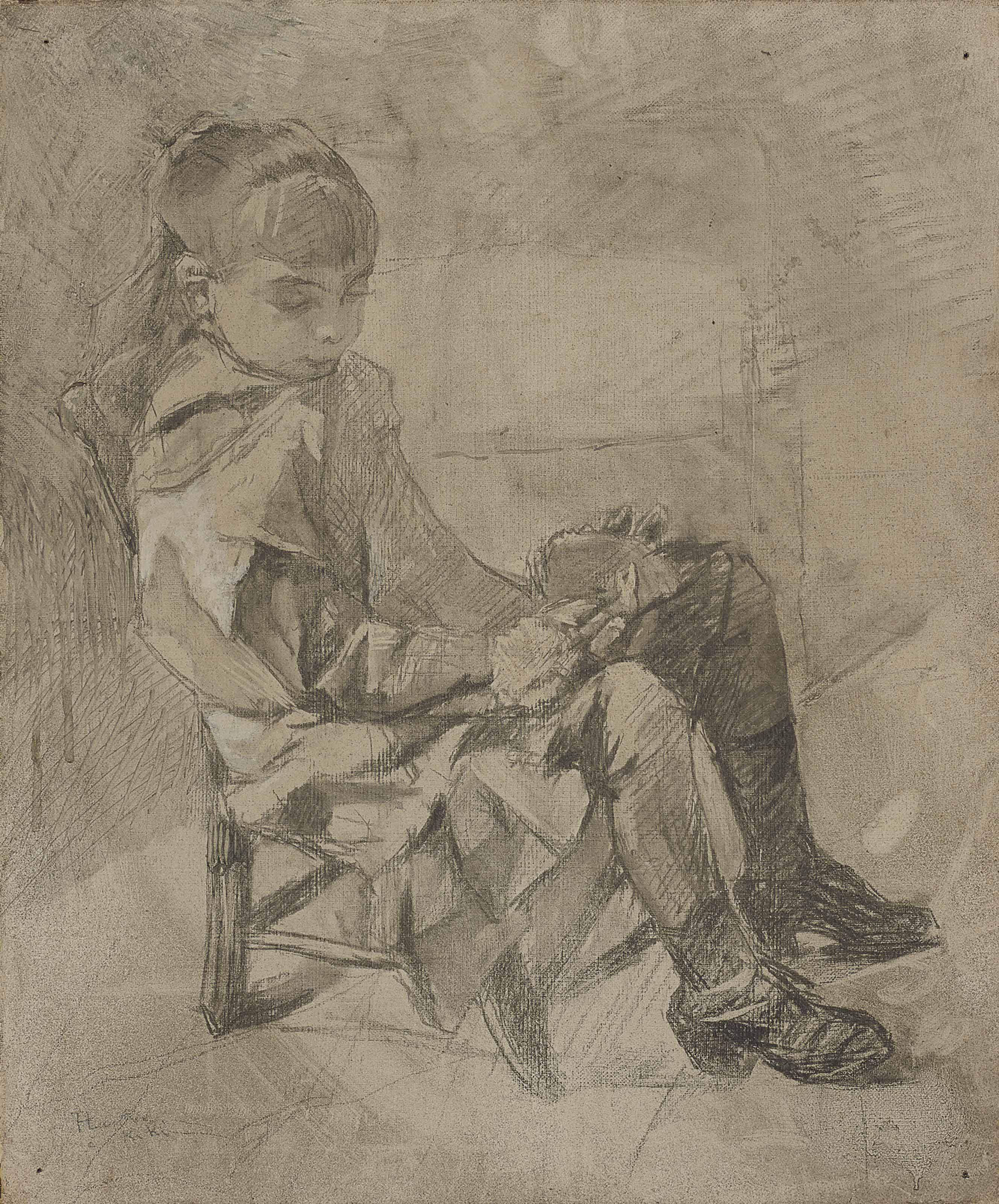 henri de toulouse lautrec 1864 1901 mademoiselle b atrix tapi de c leyran christie 39 s. Black Bedroom Furniture Sets. Home Design Ideas