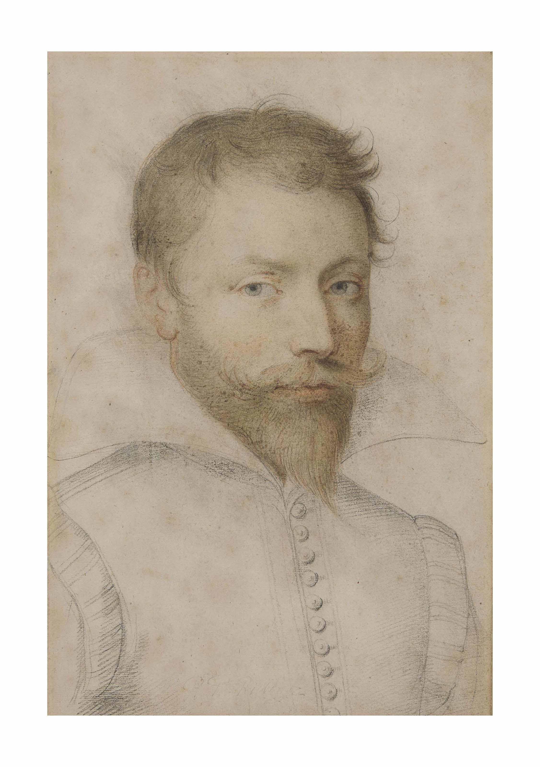 Portrait d'homme barbu en buste