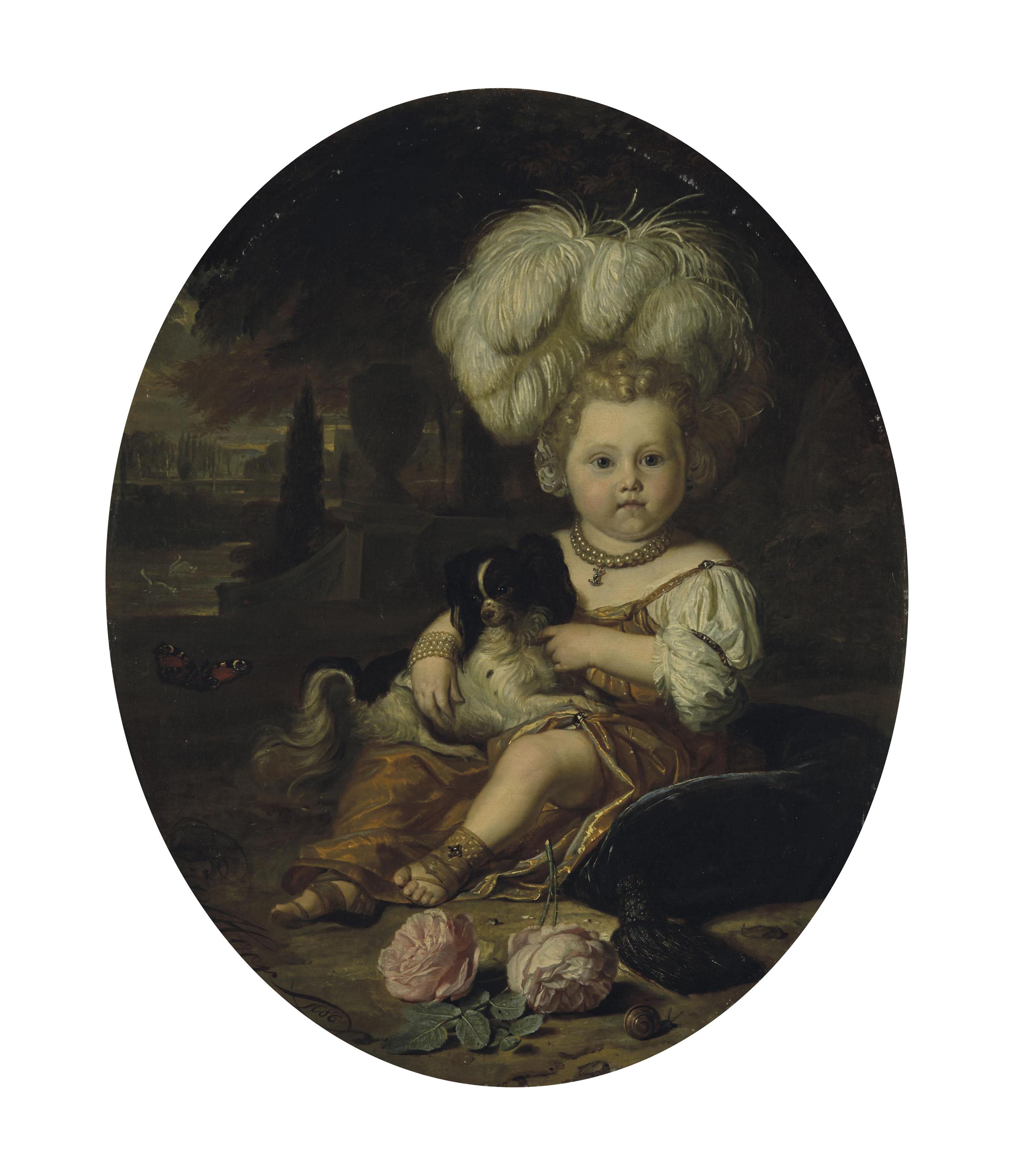 Portrait d'un jeune enfant avec un chien