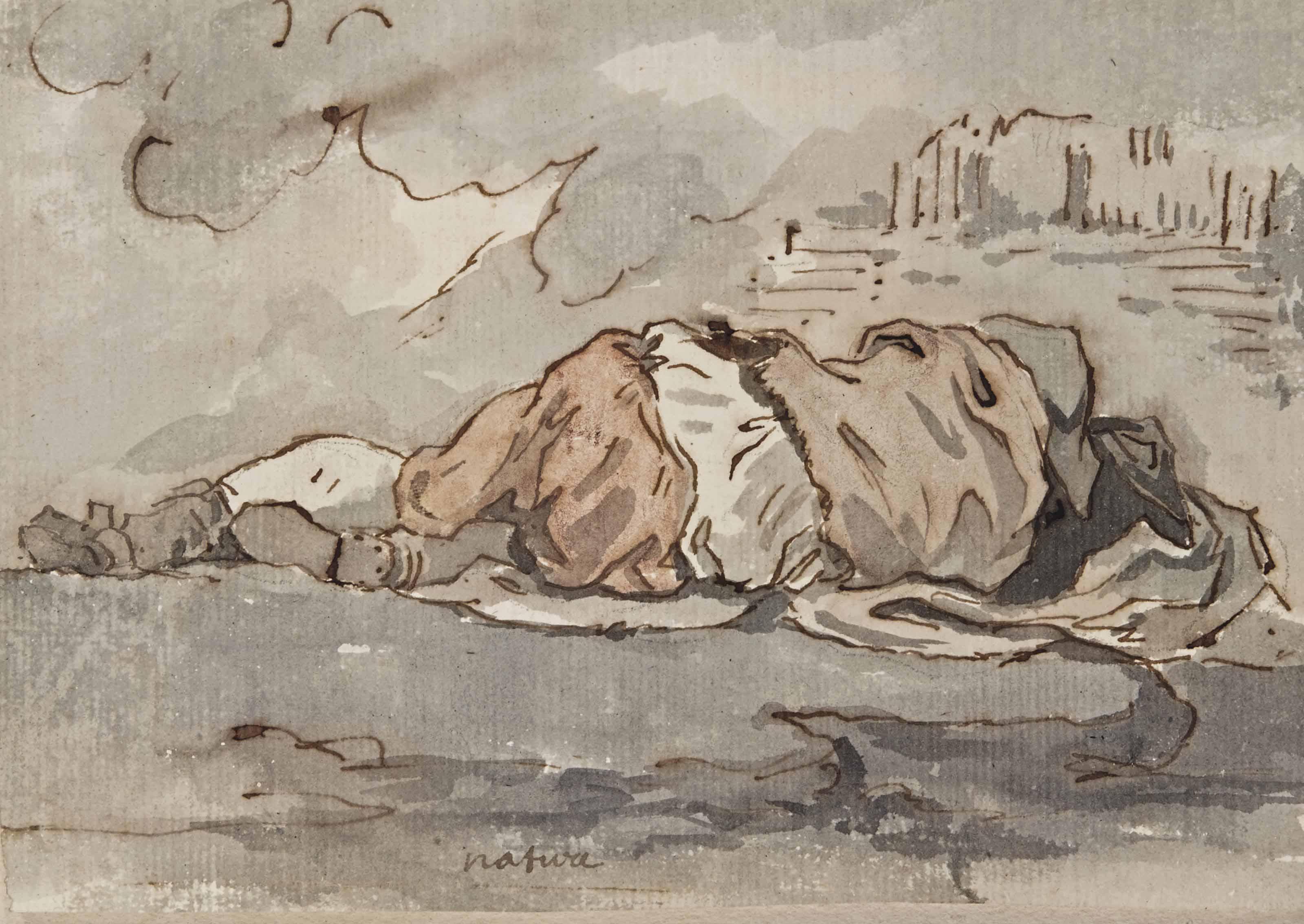 Jeune garçon endormi vu de dos