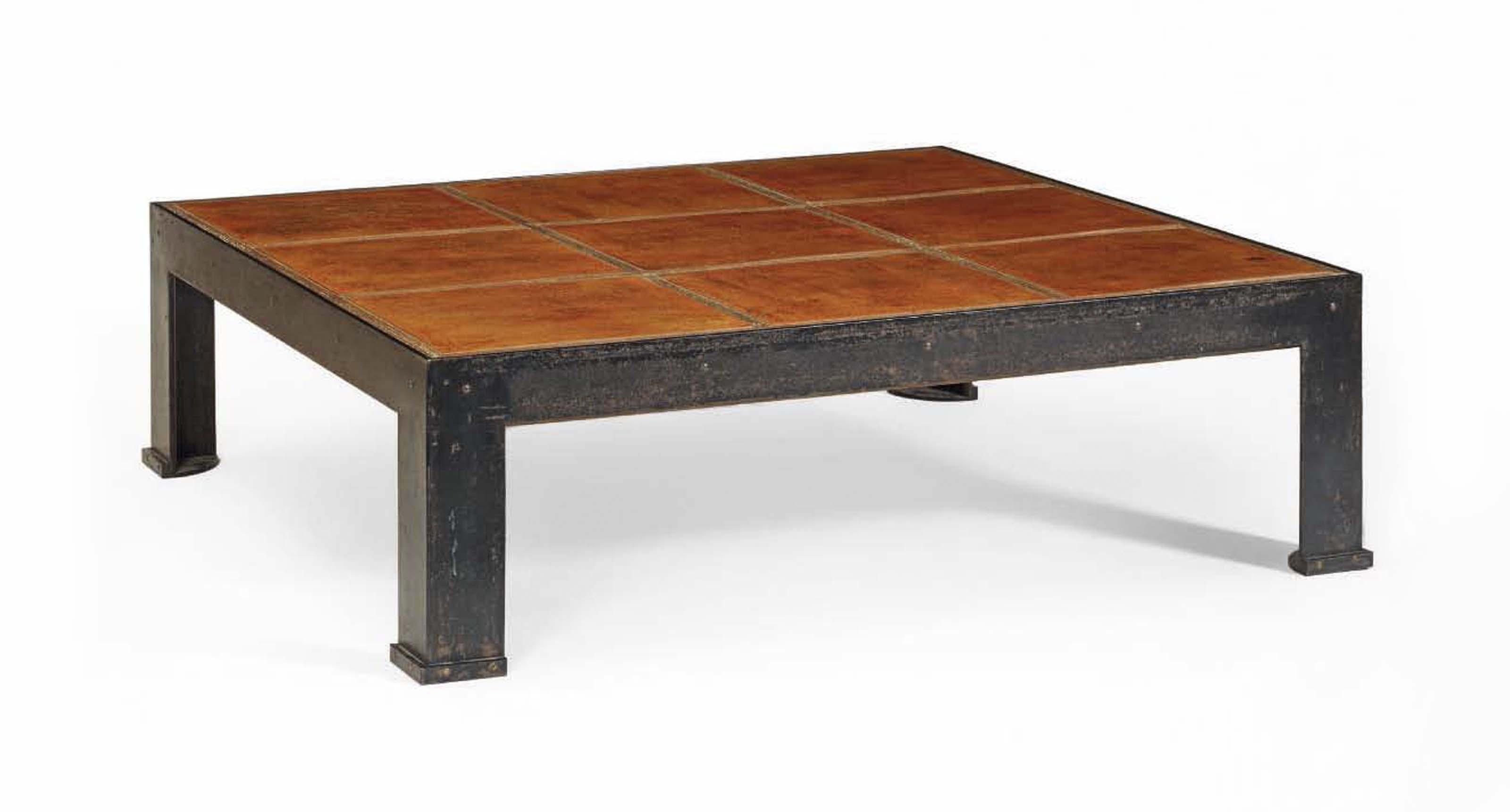 Industriel Table Basse Palette paul duprÉ-lafon 1900-1971   table basse, vers 1945   coffee