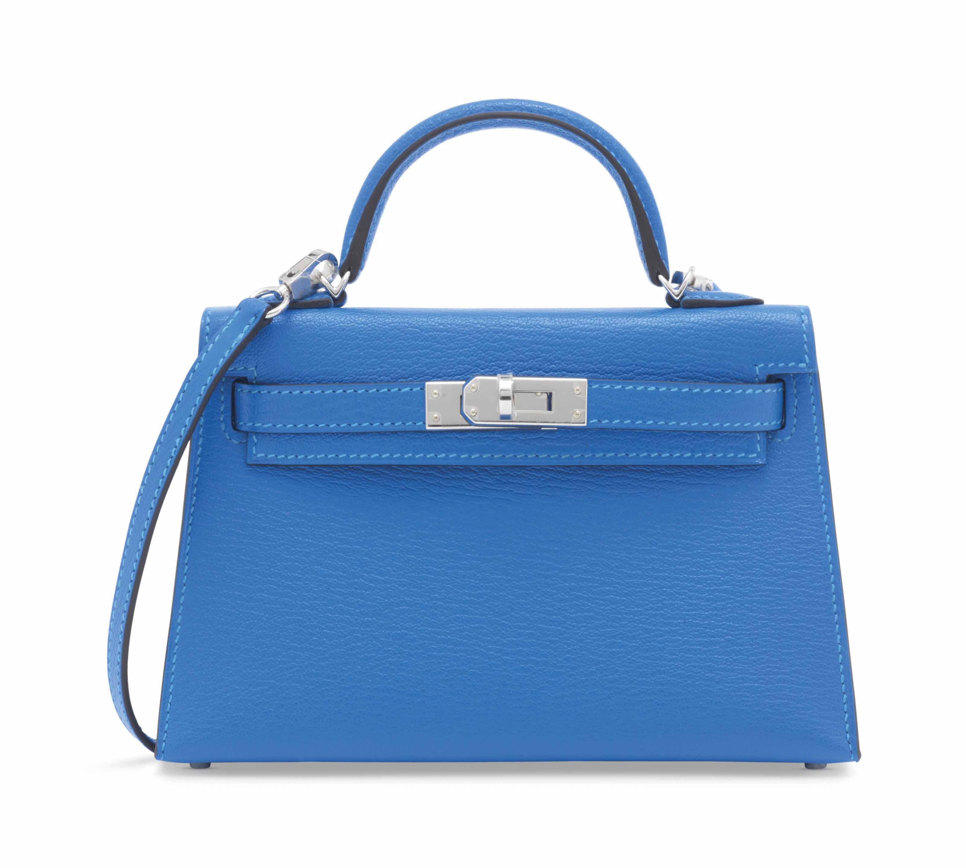 4f4f0c0f6f ... new zealand sac mini kelly sellier 20 ii en chÈvre bleu hydra garniture  en mÉtal argentÉ
