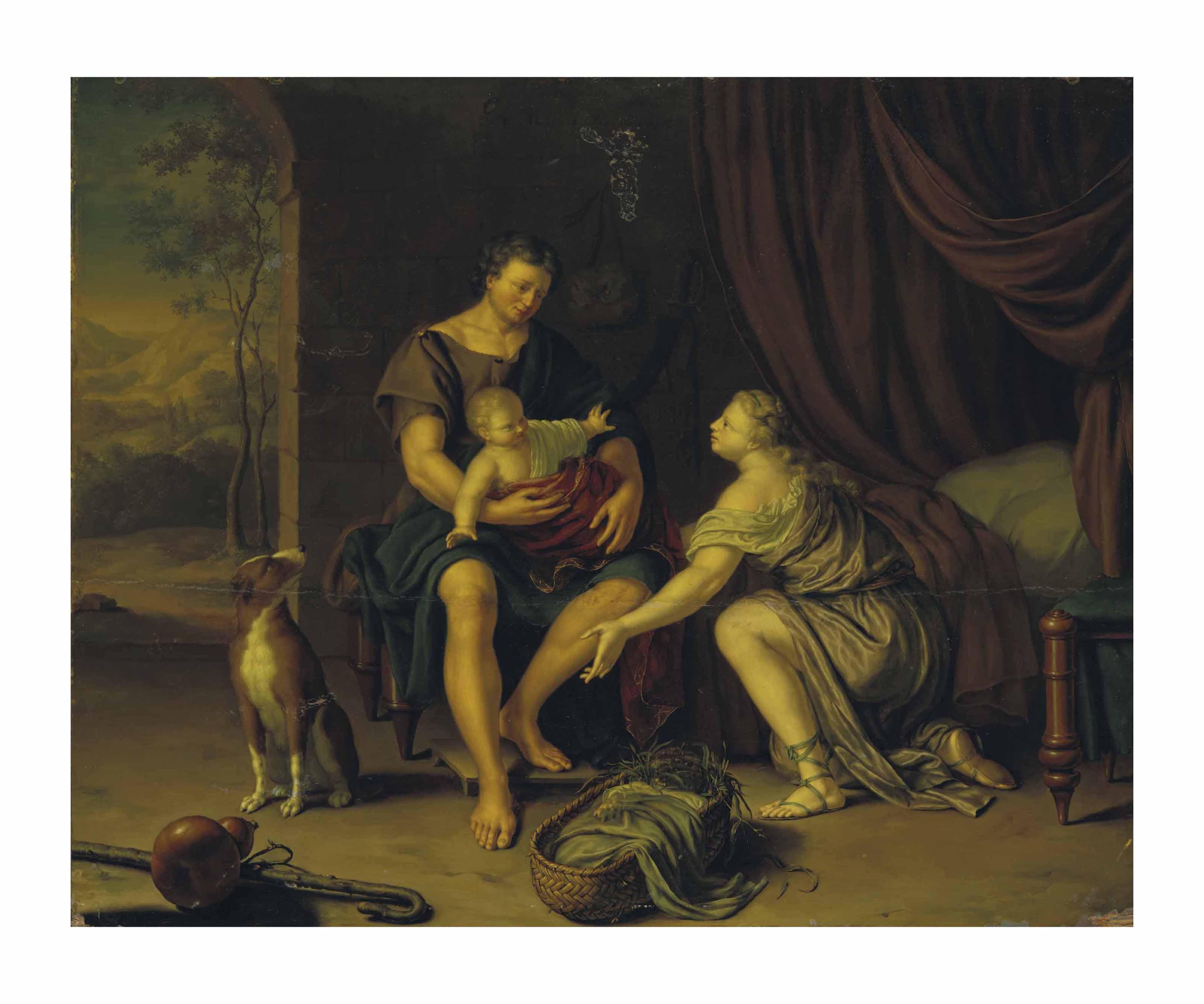 Mithridatès présentant le jeune Cyrus à sa femme