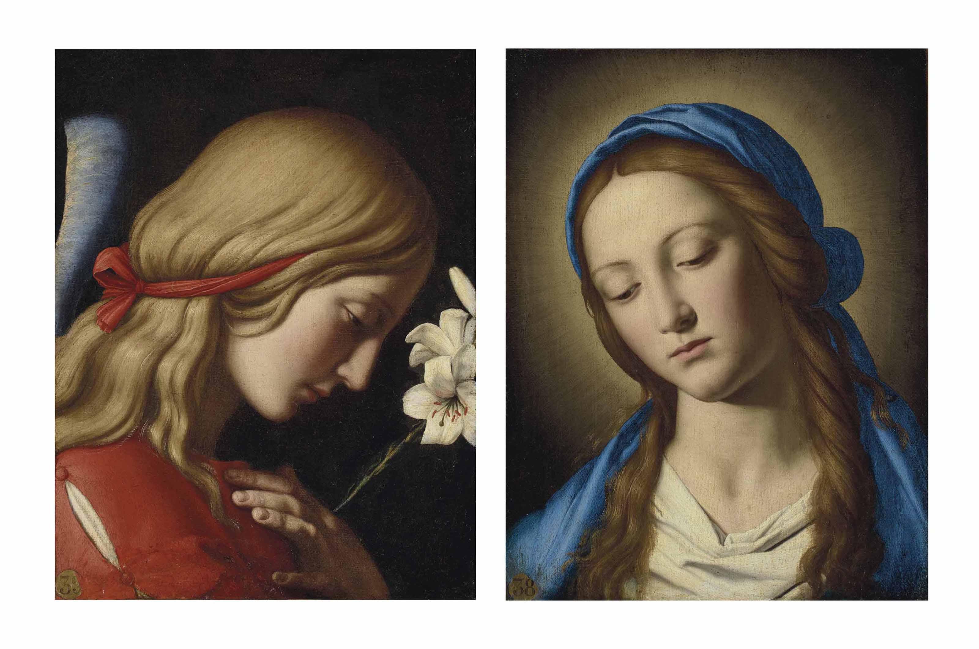 L'Archange Gabriel ; et La Vierge de l'Annonciation