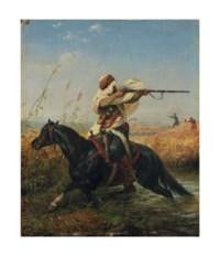 Cavalier arabe, dit aussi 'La Retraite'
