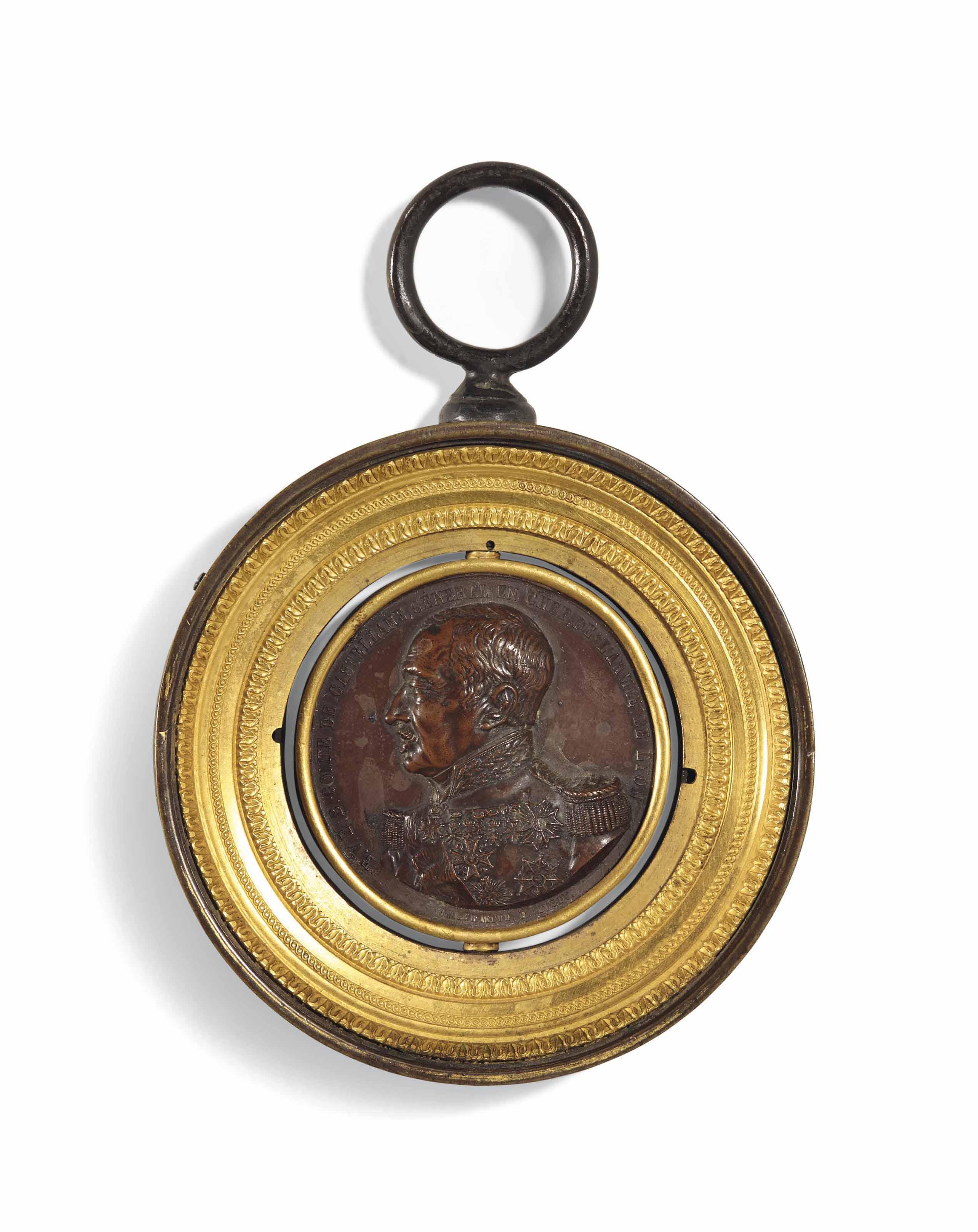MÉDAILLE EN BRONZE REPRÉSENTANT LE COMTE BONIFACE DE CASTELLANE (1788-1862)