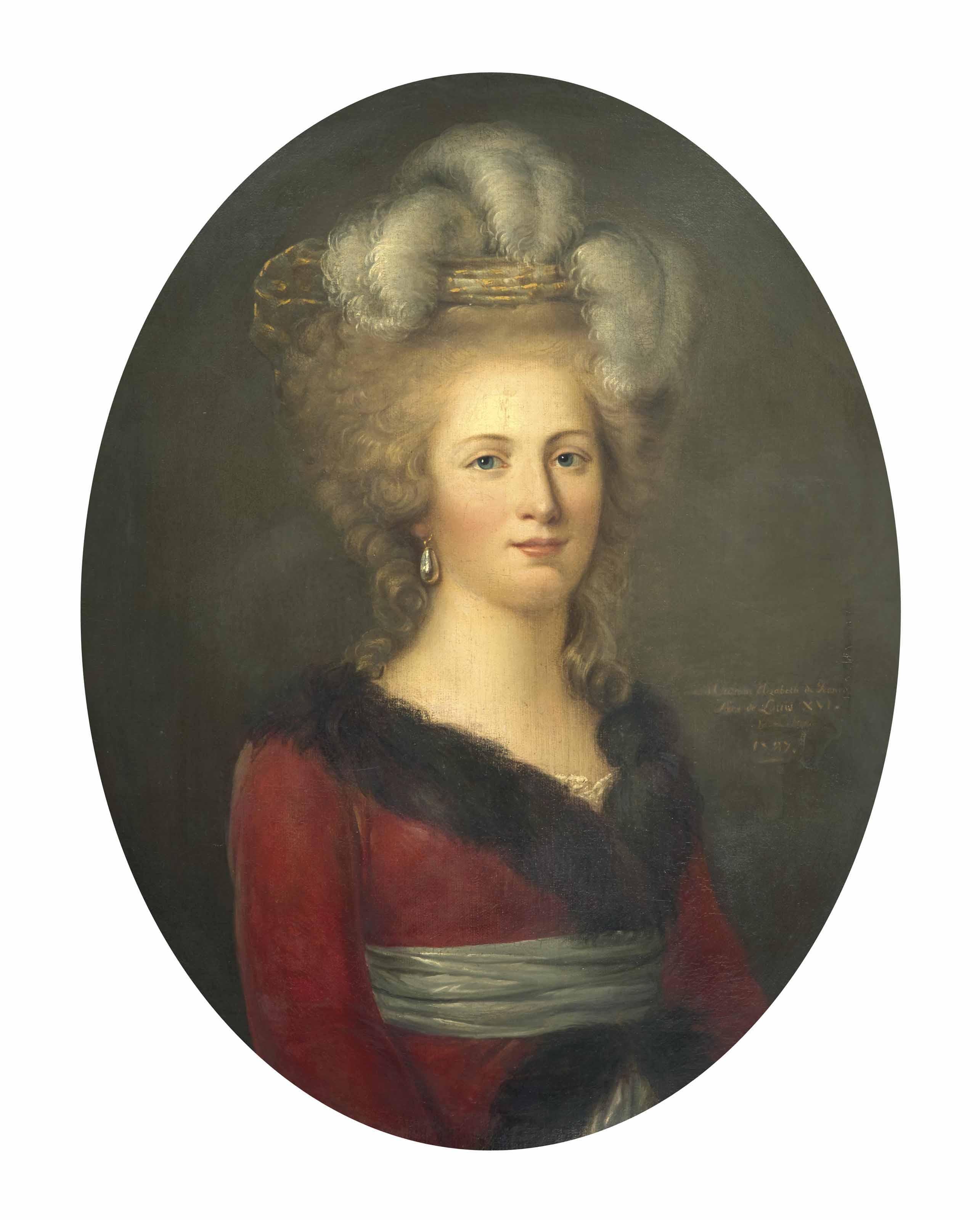 Portrait d'Élisabeth de France (1764-1794)