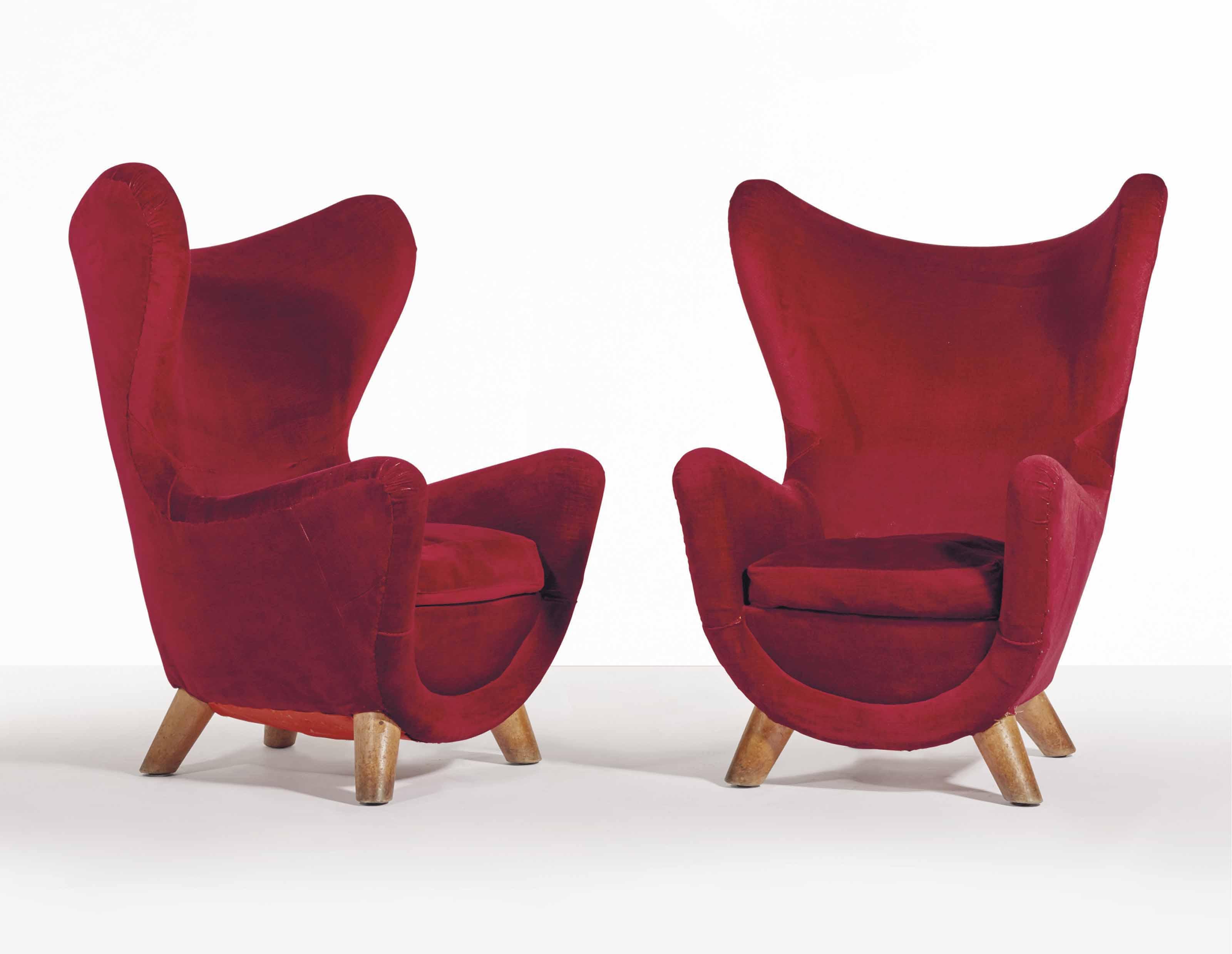 jean roy re 1902 1981 paire de fauteuils l phanteau 1964 1965 christie 39 s. Black Bedroom Furniture Sets. Home Design Ideas