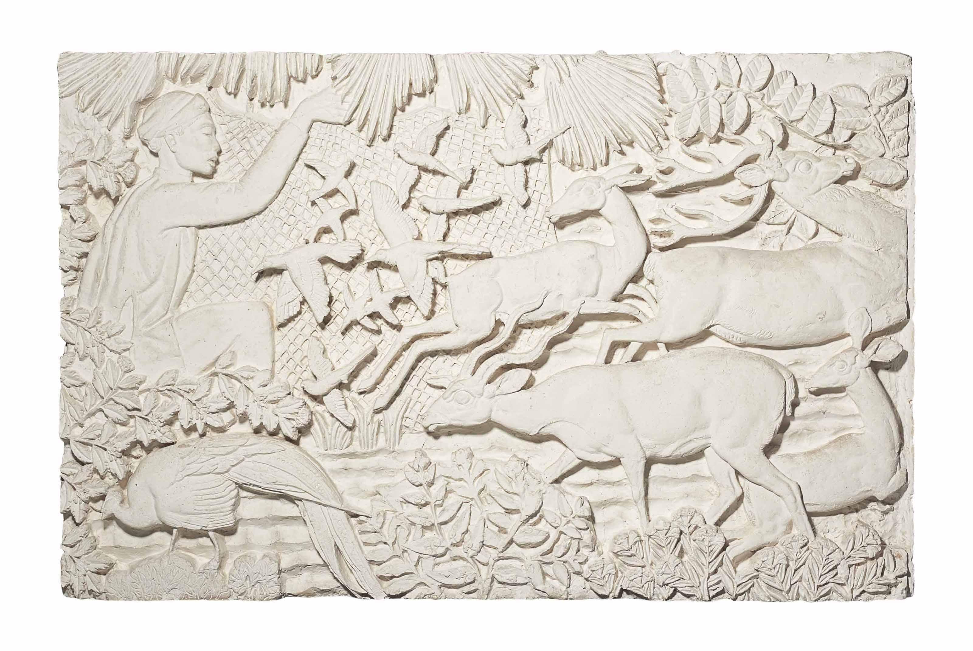 Annam, projet pour le bas-relief du musée des colonies, vers 1930