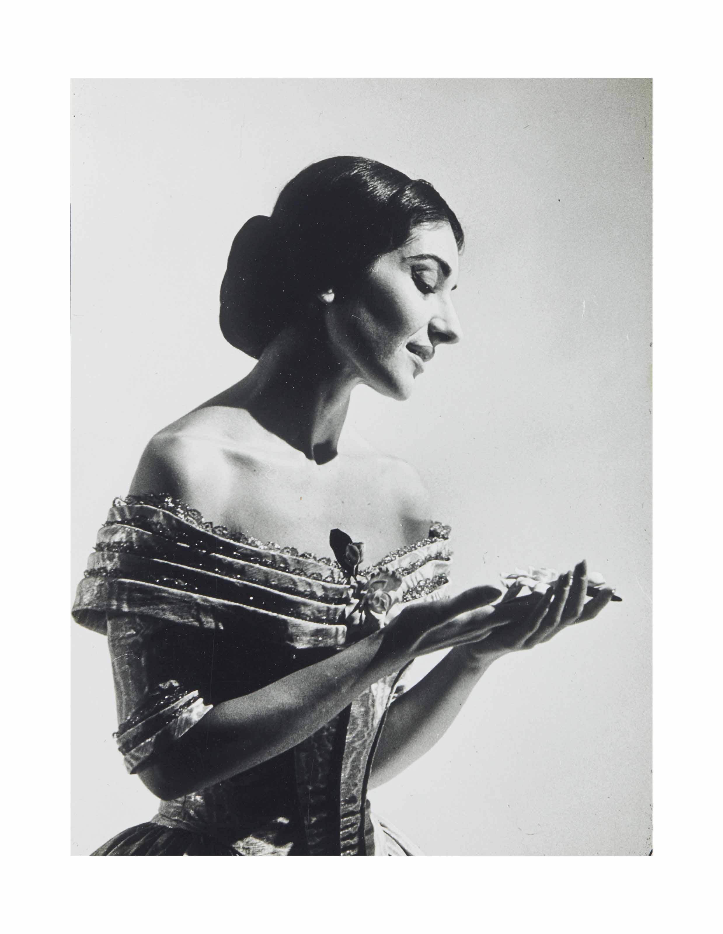 Maria Callas, La Scala, Italie, 1955