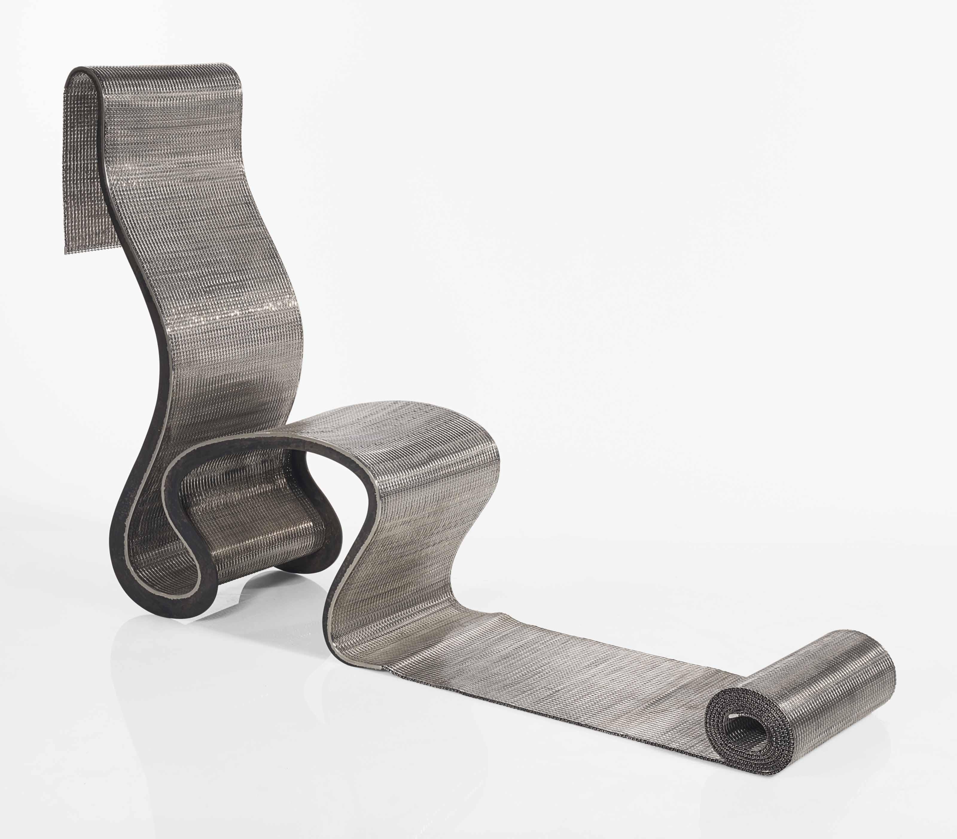 ron arad n en 1951 chaise longue narrow papardelle le mod le cr en 1992 christie 39 s. Black Bedroom Furniture Sets. Home Design Ideas