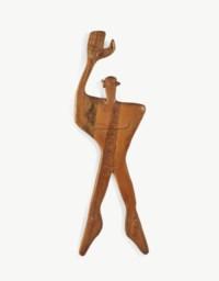 L'Homme Modulor, sculpté par Constantin Andréou, vers 1957