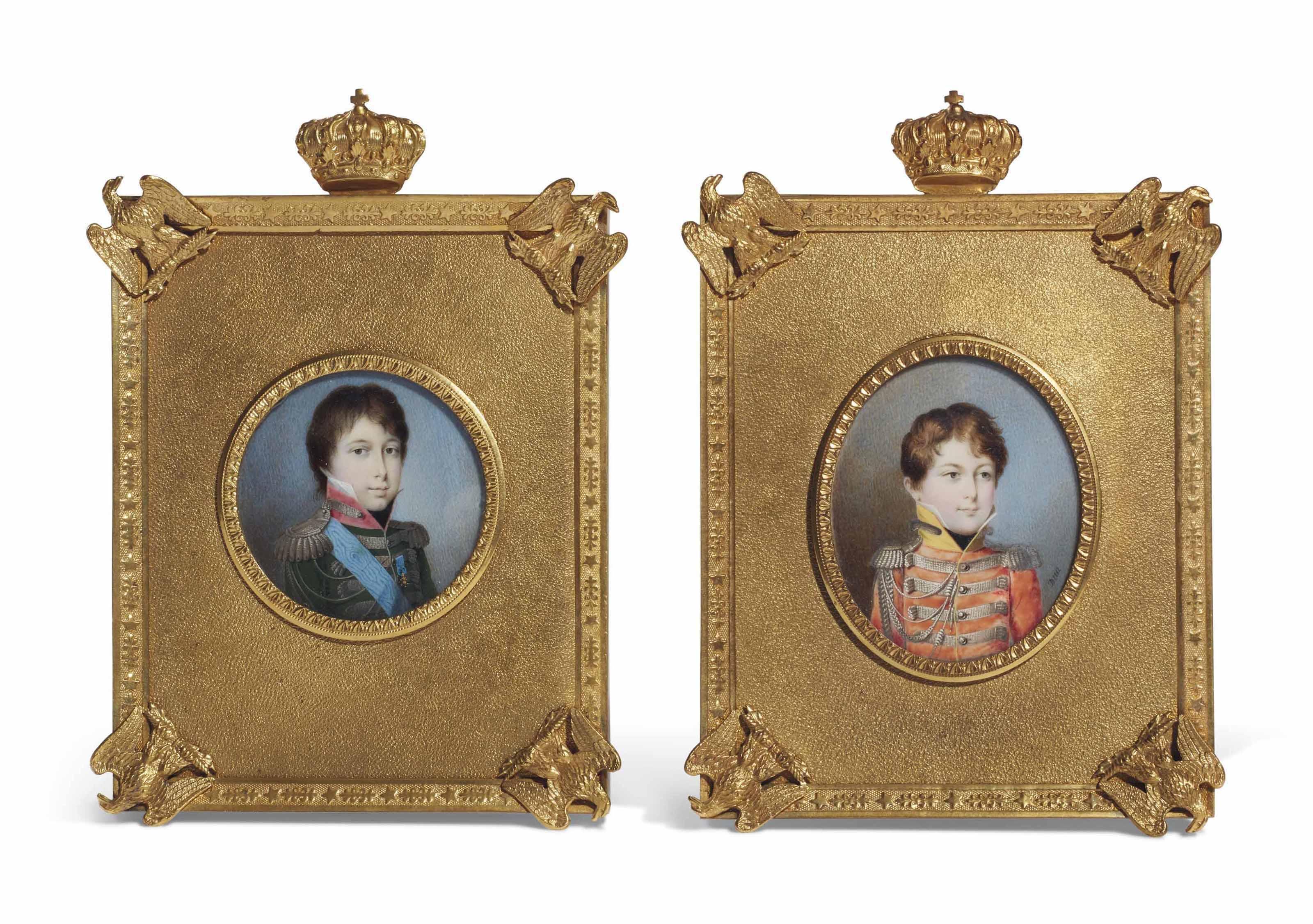 Portrait du prince Achille Murat (1801-1847); et Portrait du prince Lucien Murat (1803-1878)