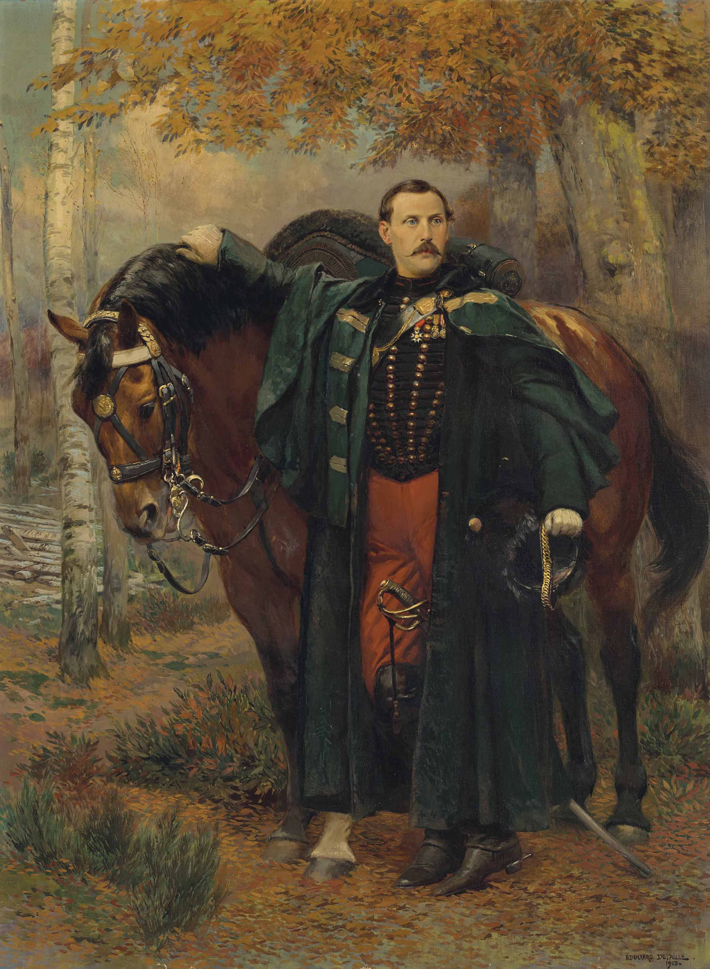 Le prince Murat devant son cheval