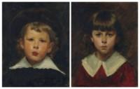 Portrait de Marcel Guérin à cinq ans (1) ; et Portrait d'Edmée Guérin (2)