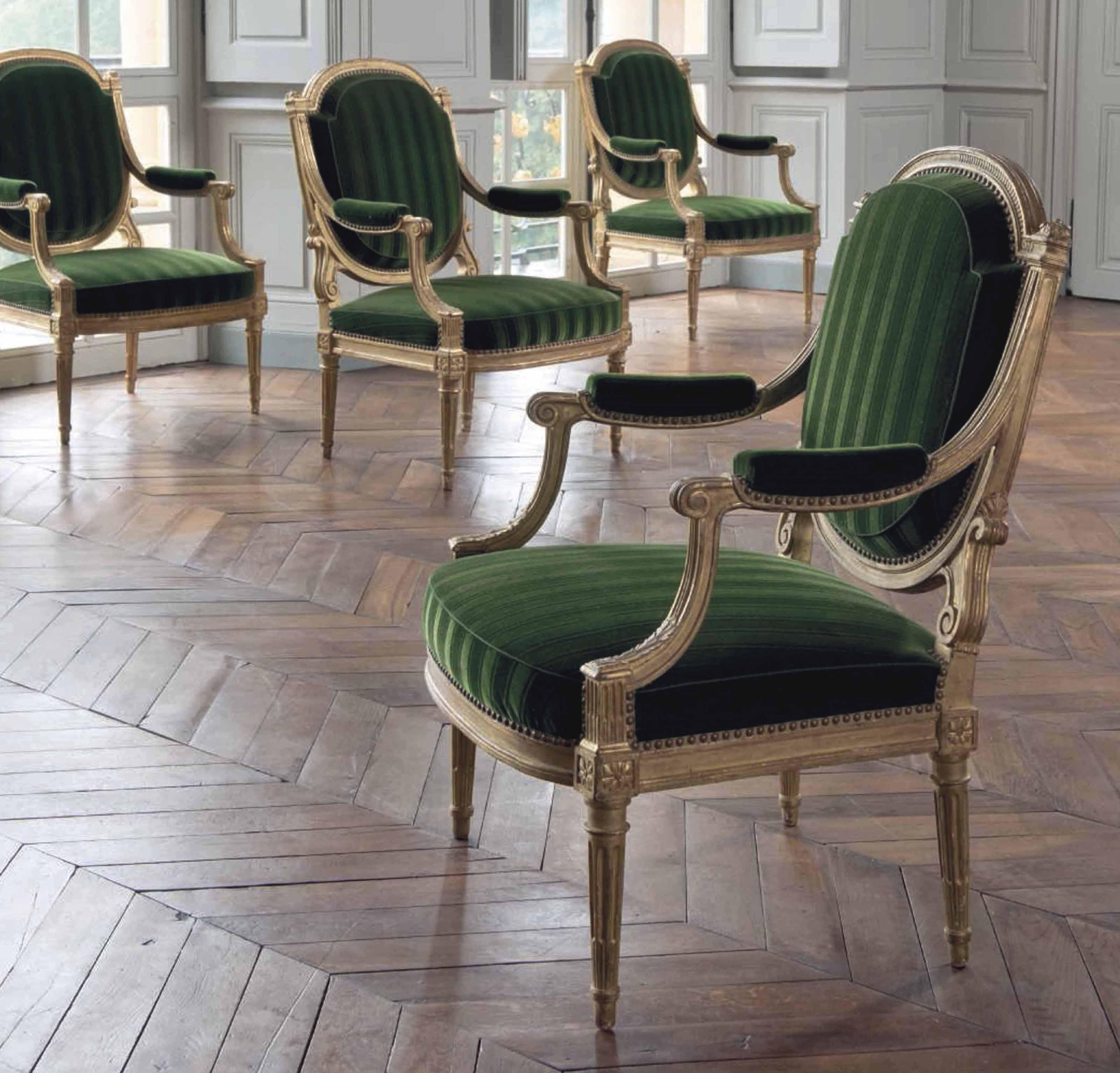 mobilier de salon d 39 epoque louis xvi estampilles de. Black Bedroom Furniture Sets. Home Design Ideas