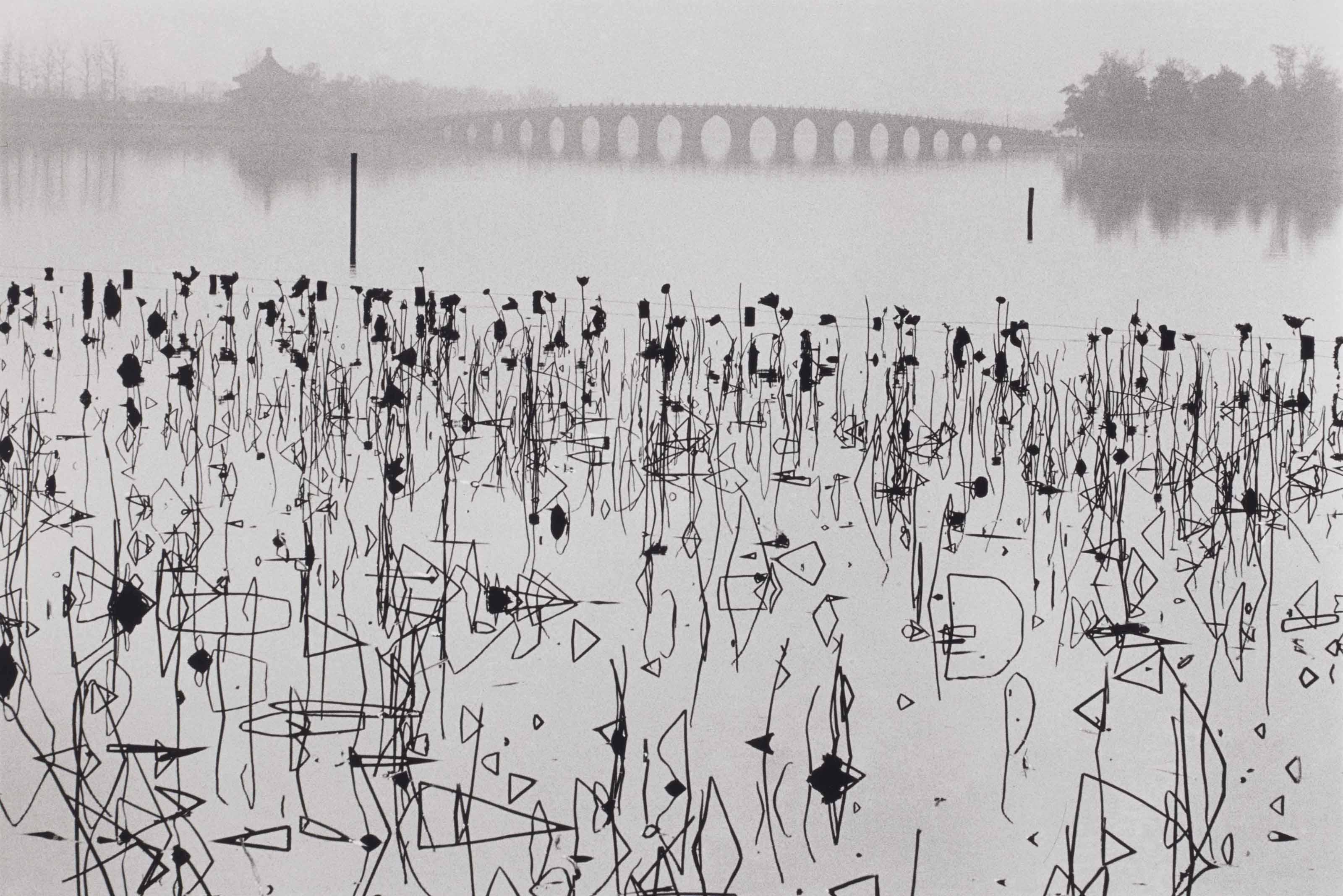 Lac Kumming, Palais d'été, Beijing, Chine, 1964